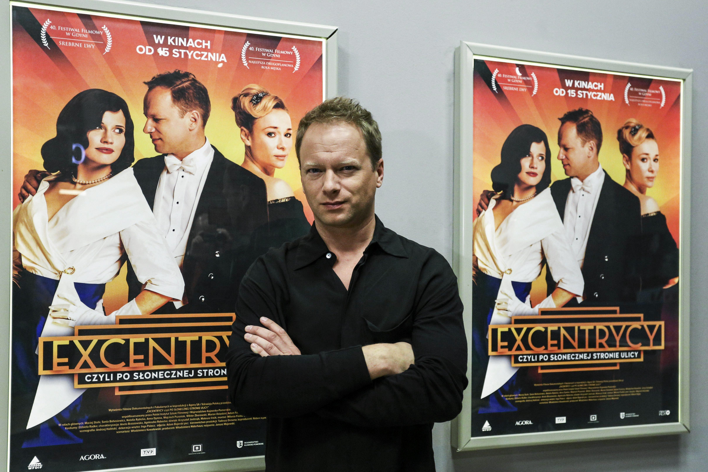 Maciej Stuhr - projekcja filmu Ekscentrycy w Warszawie